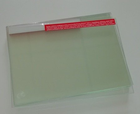 A glass lined pane for RES-3 type of helmets