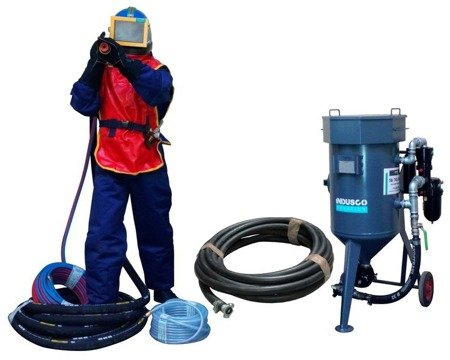 COMPLETE remote controlled sand blasting package 50L