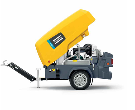 Compressor Atlas Copco XAS 58 Kd and SPECIAL Clemco package 100L