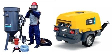 Compressor Atlas Copco XAS 78 Kd and SPECIAL Clemco package 200L