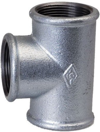 Galvanized tee connector, T-piece 90 Degree with female threads