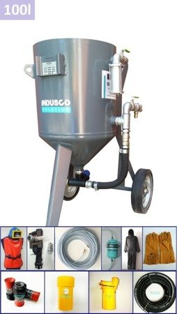 STANDARD manual controlled sand blasting package 100L