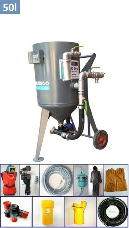 STANDARD manual controlled sand blasting package 50L